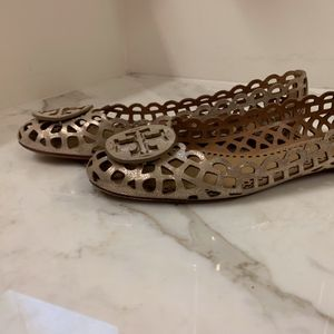 Tory Burch Gold Flats Size 11